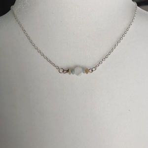 Jewelry - Silver necklace with silver clasp and beads